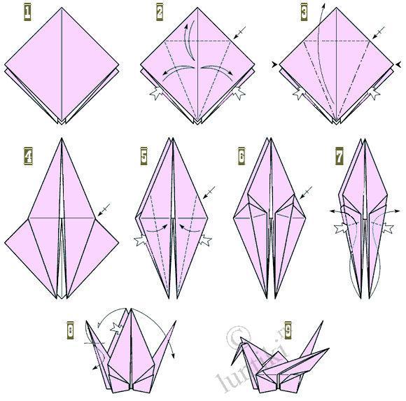 Дальнейшая сборка оригами